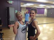 Maria Menounos and Katherine Jenkins - Dancing With the Stars rehearsal pic 03/13/12