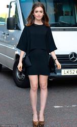 Lily Collins - out in London 8/19/13