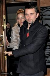 Kate Hudson& Matt Bellamy Leaving Groucho Club in Soho � November 8